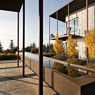 Foto della facciata di una casa contemporanea