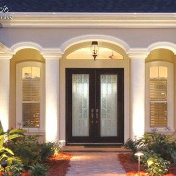 Berringer 3D Glass Front Doors - Exterior Glass Doors - Glass Entry Doors