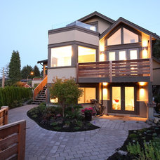 Contemporary Exterior by Best Builders ltd