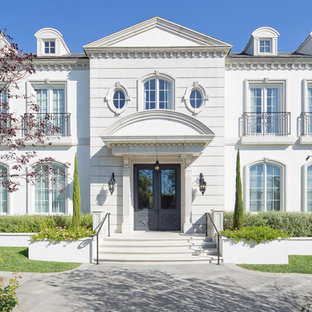 Inspiration for a white classic two floor exterior in Los Angeles.