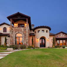 Mediterranean Exterior by Sendero Homes