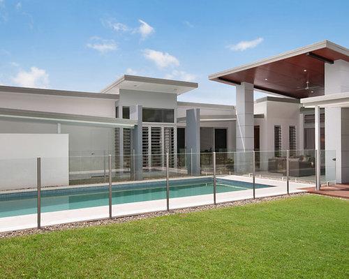 Elegant affordable immagine della facciata di una casa for Economici piani casa moderna