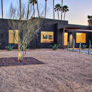 Southwest black exterior home photo in Phoenix