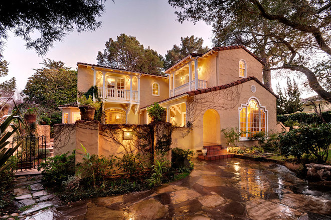 Mediterranean Exterior by Christian Rice Architects, Inc.