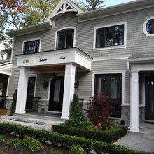 Black Windows Doors New House Классический Прихожая
