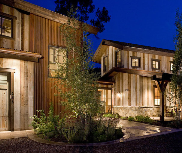 Rustic Exterior by David Johnston Architects