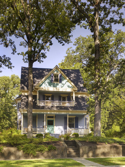 Traditional Exterior by Merrick Design and Build Inc.