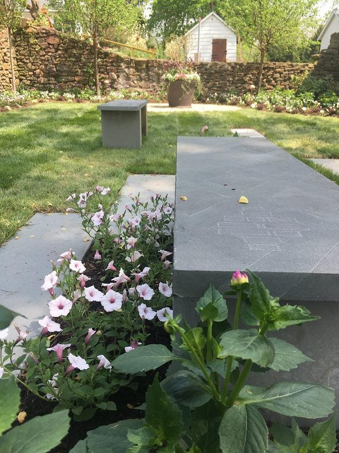 "Bluestone Bench & Pavers in the ""Secret Garden"""