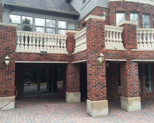 Bluestone Patio, Limestone Banisters, Brick Masonry Cleaning, Sealing,  Troy, MI