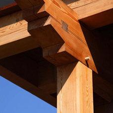 Traditional Exterior by Hugh Lofting Timber Framing, Inc.