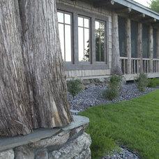 Rustic Exterior by Gabberts Design Studio