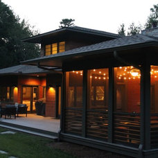 Modern Exterior by Living Stone Construction, Inc.
