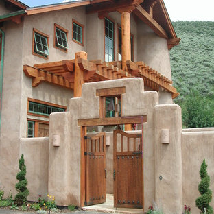 Inspiration for a two-storey exterior in Denver.