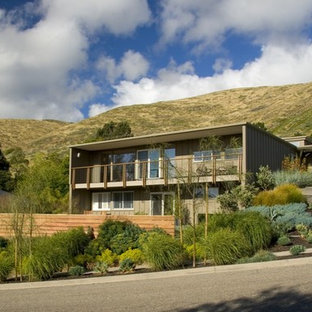 Example of a trendy two-story exterior home design in San Luis Obispo