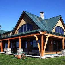 Rustic Exterior by Bonin Architects &  Associates