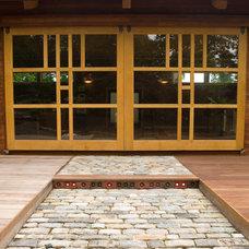 Asian Exterior by Hugh Lofting Timber Framing, Inc.