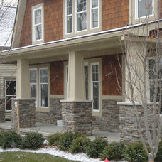 Traditional Exterior by Brighton Stone & Fireplace, Inc.