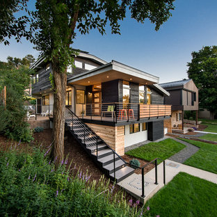 75 mid sized exterior home design ideas stylish mid for Denver adu builders