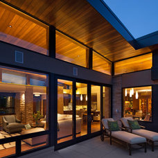 Midcentury Exterior by 186 Lighting Design Group - Gregg Mackell