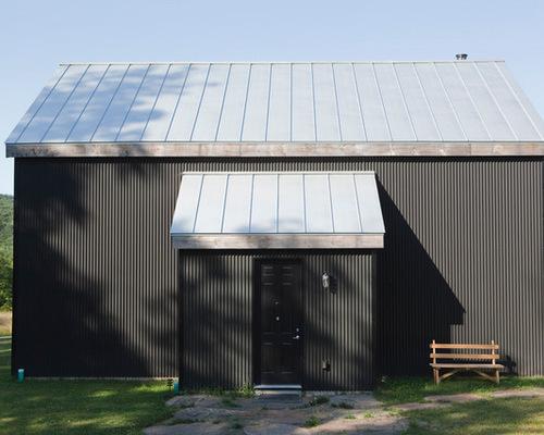 Charcoal Gray Metal Barn Siding Houzz