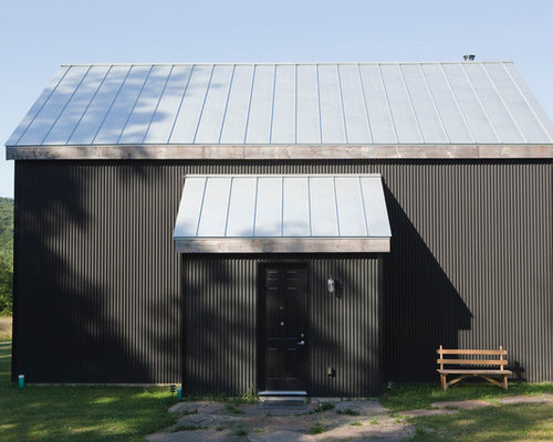 Charcoal Gray Metal Barn Siding Houzz