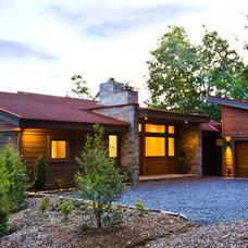 Modern Exterior by Allard & Roberts Interior Design, Inc