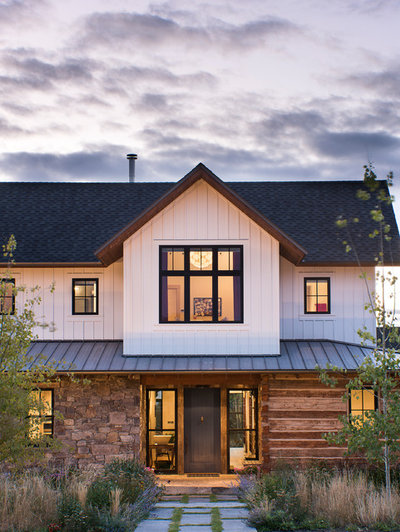Farmhouse Exterior by North Fork Builders of Montana, Inc.