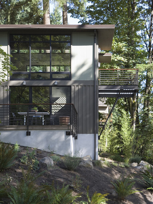 Contemporary Two Story Exterior Home Idea In Portland
