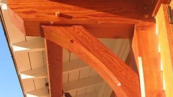Brackets from reclaimed Douglas fir