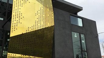 Brass & Steel Sculptural Facade