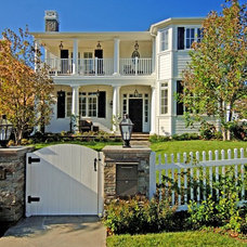 Traditional Exterior by Jill Wolff Interior Design