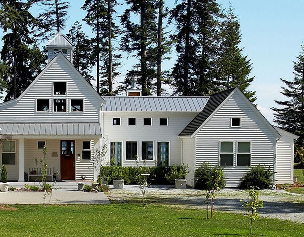 Eclectic Exterior by Dan Nelson, Designs Northwest Architects