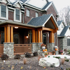 Rustic Exterior by Campbell's Residential Design Service