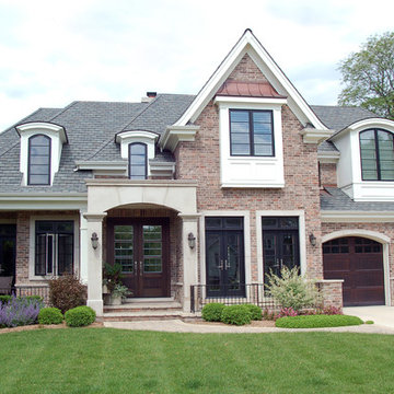 Brick Provincial Home with Front Porch