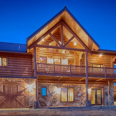 Rustic Exterior by Satterwhite Log Homes