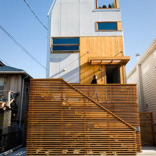 Ispirazione per la facciata di una casa contemporanea a due piani