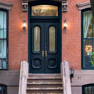Inspiration for a transitional exterior home remodel in New York