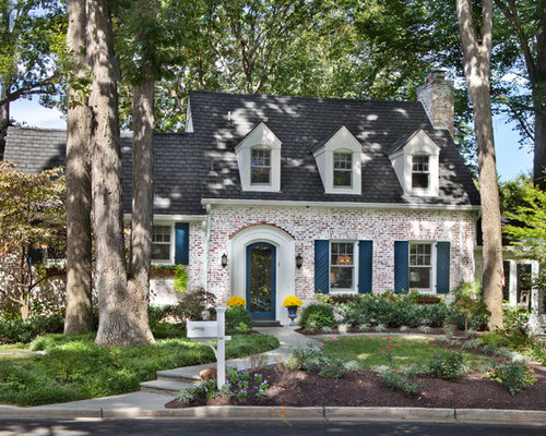 Lime Wash Brick Exterior Design Ideas, Remodels & Photos