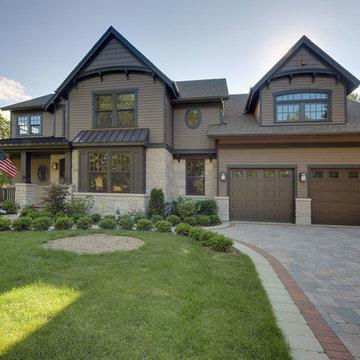 Brown-Toned Custom Home