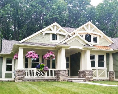 Arts and crafts decorative trusses exterior design ideas for Exterior design vancouver wa
