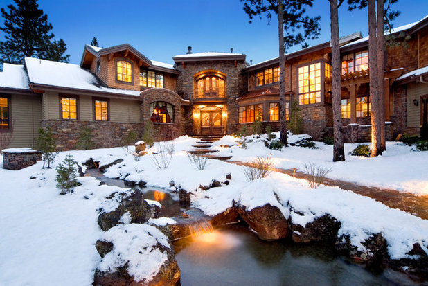 Rustic Exterior by Neal Huston & Associates