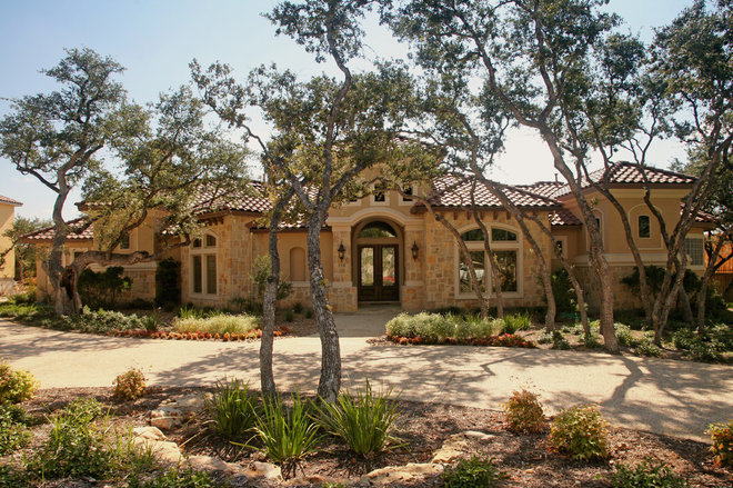 Mediterranean Exterior by Burdick Custom Homes
