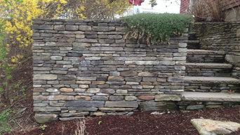 Burlington penn flatstone walls and steps