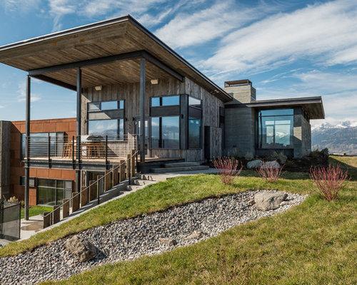 Rustic Split-Level Exterior Design Ideas, Remodels & Photos
