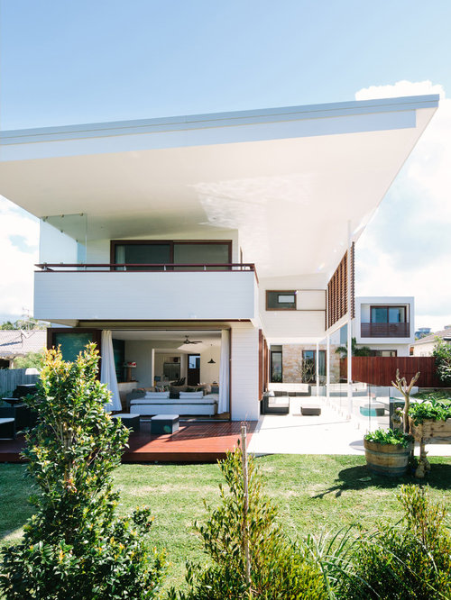 Contemporary roof designs home design ideas pictures for Beach house designs townsville
