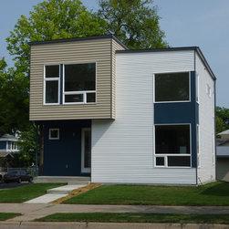 Modern Vinyl Siding Material Blue House Color Exterior Design Ideas Pictures