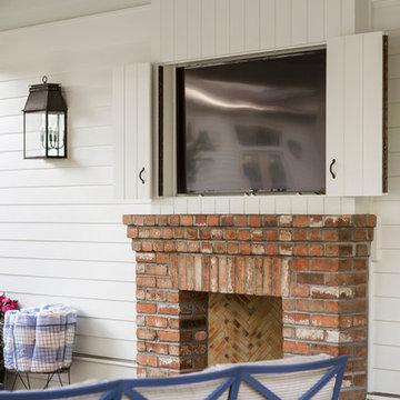 Cabana with Fireplace and TV