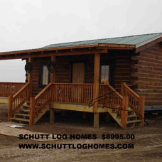 Traditional Exterior by Schutt Log Homes
