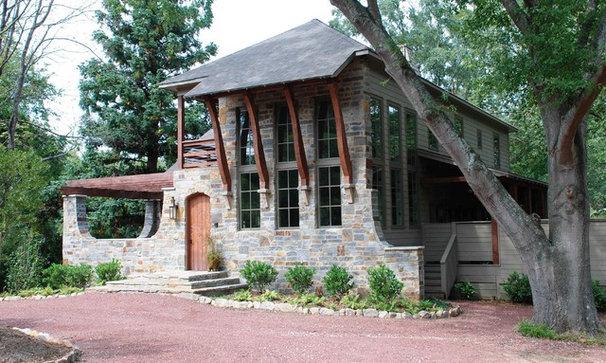 Eclectic Exterior by Studio C Architecture & Interiors