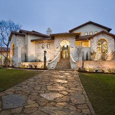 Mediterranean Exterior by Cornerstone Architects